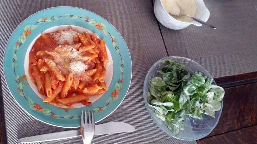 Nudeln in Tomatensauce